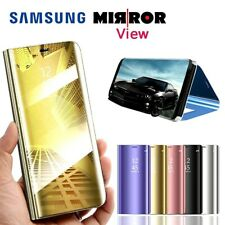 NEW Luxury Smart View Mirror Wallet Flip Stand Case Cover for All Samsung Galaxy