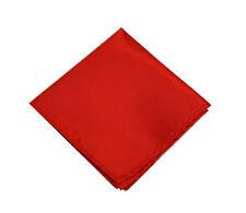 Men Italian square Satin Party pocket Hanky Handkerchief Red 22cm A03