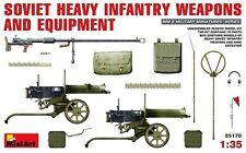 Mini Art 1/35 Soviet Heavy Infantry Weapons & Equipment Model Kit 35170