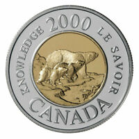 🇨🇦 Canada Toonie 2 Dollars Coin Path of Knowledge Female Polar Bear cubs 2000