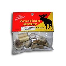 AMERICAN ANTLER SMALL 2 OZ PACKAGE ASSORTED CRITTER CHEW TREAT. FREE SHIP TO USA