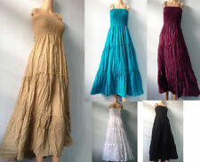 Boho Regular Size 100% Cotton Dresses for Women