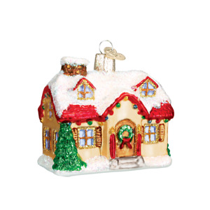 Old World Christmas HOLIDAY HOME (20032)N Glass Ornament w/OWC Box