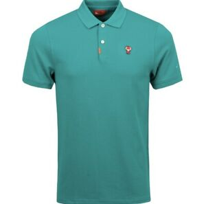 NIKE Frank Tiger Woods TW Masters Edition Green Polo Golf Shirt Sz Small Augusta
