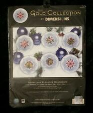 Dimensions Gold Collection Snowflake Elegance Ornaments Counted Cross Stich Kit