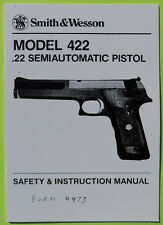 SMITH & WESSON Model 422 .22 Semi auto Pistol Safety & Instruction Manual 19 pgs