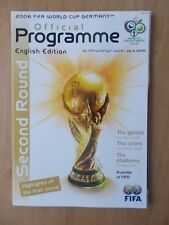 THE WORLD CUP - GERMANY - OFFICIAL 2nd ROUND PROGRAMME 2006 - ENGLISH EDITION