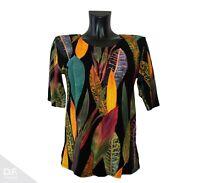 NEW JERSEY Damen Top Tunika Sommer T-Shirt Paint Herbst Viskose *Made in EU