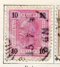 Austria 1899 antiguo problema Fine Used 10h. 093432