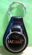 JAGUAR ~ Black Emblem ~  KEY CHAIN ~ BLACK LEATHER  FOB