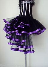 Burlesque Black Purple Tutu skirt size XS S M  L X L Sexy Bustle The Tutu Store