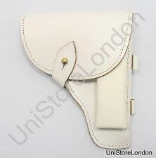 Holster White Leather Fitt over 2 1/4 inch wide Belt R1396