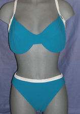 LEPEL TEAL NON PADDED BIKINI SIZE 16 DD/E CUP  RP £28