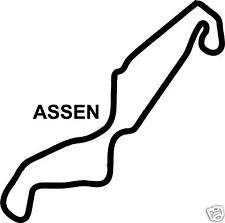 Assen Sticker Decal Circuito De Carrera Moto Gp neerlandés Bicicleta