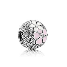 New Silver Cherry Blosso Spacer Stopper Clip Lock Beads Fit European Bracelet