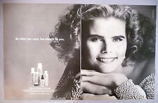 Mariel Hemingway for Paul Mitchell Hair Products Double-Page PRINT AD - 1992