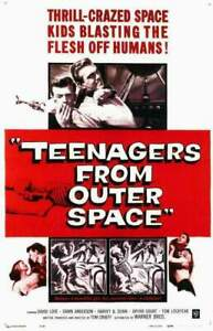 Teenagers From Outer Space DVD B&W Black and White Movie