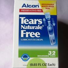NEW! ALCON Tears Naturale FREE Lubricant Dry Eye Drops 32Vials x0.8ml +Tracking