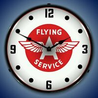 Flying A Services new LIGHTED clock USA Made    More Gas Oil clocks available ⛽