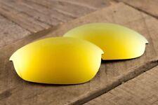 24k Gold Iridium Mirrored Polarized Replacement Lenses for Oakley Half Jacket