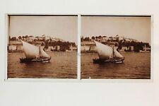 Constantinople Turquie Photo Plaque stéréo verre Stereoview Vintage