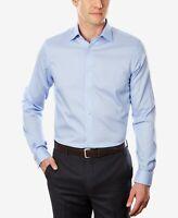 Michael Kors Men's Regular Fit Airsoft Dress Shirt, Blue, Size 15.5 32/33