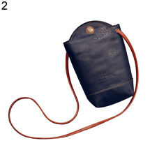 Retro Women Wallet Purse Leather Coin Cell Phone Mini Cross-body Shoulder Bag Si