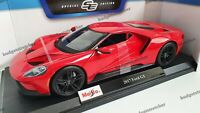 MAISTO 1:18 Scale - 2017 Ford GT - Red - Diecast Model Car