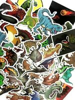 50 Pack Prehistoric Ancient T Rex Dino Dinosaur Dragons Decal Stickers Fun Lot