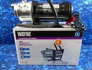 WAYNE PLS100 1 HP 720 Gal/ Hr Portable Stainless Steel Lawn Sprinkling Pump