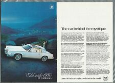 1980 CADILLAC ELDORADO 2-page advertisement, Cadillac ad, white Eldorado