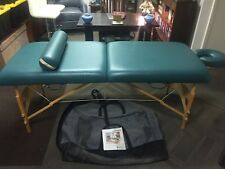 "Custom Craftworks Omni 30"" Portable Masseuse Massage Table Teal Color W/Bolster"