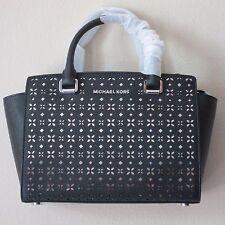 NWT MICHAEL Michael Kors Selma Medium Saffiano Leather Satchel Handbag
