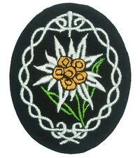 Cloth Edelweiss Badge - WW2 Repro Gebirgsjager Patch German Award Uniform Army