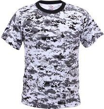 Digital Camo Tactical T-Shirt, Camouflage Military Tee Short Sleeve Army Tshirt