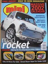 MINI MAGAZINE JANUARY 2002 ROAD ROCKET MINI RACER