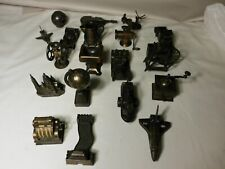 Vintage Lot Of Pencil Sharpeners And Other Metal Items.19 Pieces