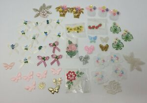Huge Lot of VTG Floral Embroidered Beaded Sequined Sew-On Sewing Craft Appliques