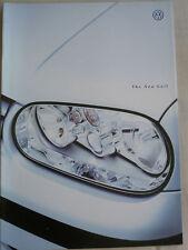 VW Golf range brochure c1998