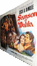 SAMSON ET DALILA  !  rare magnifique affiche geante 4x3 1971