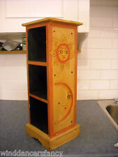 CELESTIAL SUN & MOON WOOD CURIO SHELF BREYER STABLEMATE PETER STONE CHIP DISPLAY
