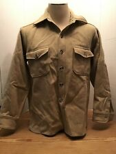 Vintage 60s WOOLRICH Shirt Jacket Heavy Wool Button USA MADE mens XL