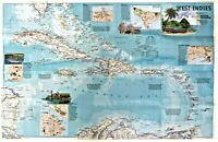 ⫸ 2003-3 West Indies - Traveler's Map – National Geographic Map School Poster