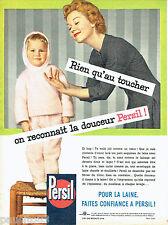 PUBLICITE ADVERTISING 016  1957  PERSIL  lessive pour pyjama esquimeau enfant