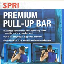 SPRI Premium Pull Up Bar 12 Grip Position Steel Chest Shoulder Arm Home Gym NEW
