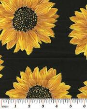 Fat Quarter Forever Sunflowers Spaced Sunflower 100% Cotton Quilting Fabric