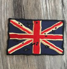 Vintage Tattered Union Jack Flag Patch