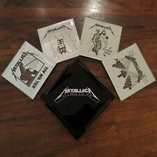 METALLICA Sand­Carved Glass Coaster Set NEW
