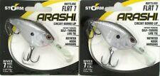 2 Storm Arashi Rattling Flat 7 Circuit Lip Crankbaits Black Silver Shad AFT07874