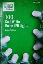 100-Light Dome Smooth LED Cool White String Light Set Christmas